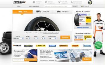 Screenshot der Website von Tirendo.