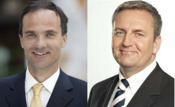 Bertram Valentin (links) geht, dafür übernimmt Sven Enger<br>den Chefposten bei Standard Life