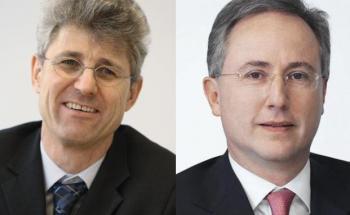 Ralf Wiedenmann und Thomas Steinemann von der <br> Vontobel-Gruppe