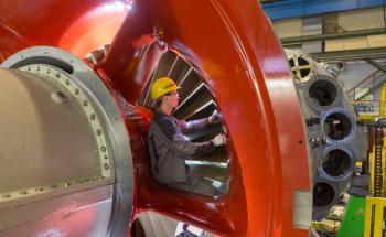 Messarbeiten an einer Gasturbine beim Dax-Unternehmen Siemens. Dax-Werte stellen die Aktienkomponente im Walser Portfolio German Select (Foto: Siemens AG)
