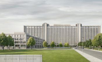 Das Bundesbank-Gebäude in Frankfurt. <br> Quelle: Deutsche Bundesbank