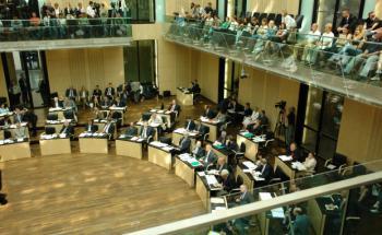 Eine Plenarsitzung im Bundesrat. Quelle: Getty Images