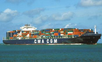 """Das Containerschiff """"Buxcliff"""" zum gleichnamigen Fonds des Emissionshauses Gebab auf hoher See (Foto: Gebab)"""