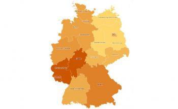 Die Grafik zeigt den Anteil der in Gold oder Silber investierten deutschen Anleger nach Bundesländern.