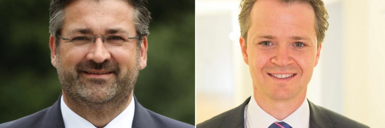 Markus Köppl, Gründer der Berater-Vermittlung MK Anleger Gesellschaft und Philipp Hendel von der Kanzlei Dr. Roller & Partner (v. li.)