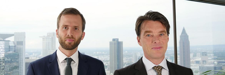 Felix Herrmann (links), Kapitalmarktstratege, und Martin Lück (rechts), Chef-Investmentstratege bei Blackrock in Deutschland