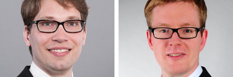 Michael Kraus (l.) und Jörn Heckmann sind Rechtsanwälte in der Kanzlei CMS.