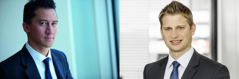 Profitieren vom niedrigen Zins-Umfeld: Fondsmanager Simon Lue-Fong (links) und Markus Herrmann