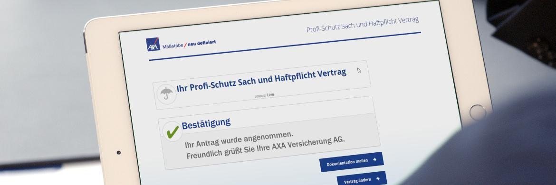 Zum Jahresende stellt Axa Maklern im Gewerbegeschäft eine neue Abschlussmöglichkeit zur Verfügung: Profi-Speed soll die einfache und vollständig digitale Bearbeitung von Anträgen ermöglichen.