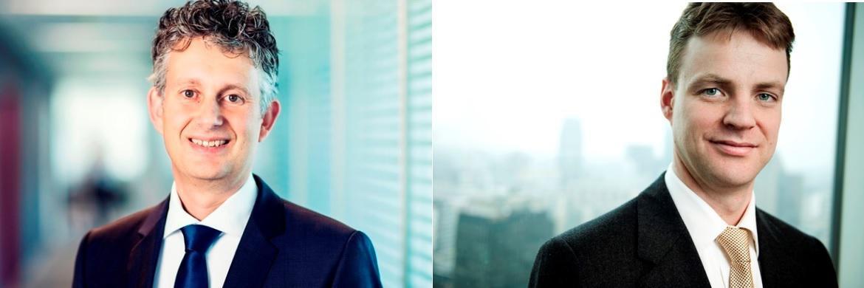 Sander Bus (links) und Victor Verberk (rechts), Co-Heads des Credit-Teams von Robeco