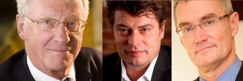 Manager des Falcon Gold Equity Fund John Hathaway, Craton-Capital-Chef Markus Bachmann und Managing Director bei Carmignac Didier Saint-Georges (v. li.)