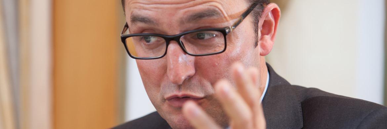 Michael Reuss von der Vermögensverwaltung Huber, Reuss & Kollegen © Jürgen Heppeler