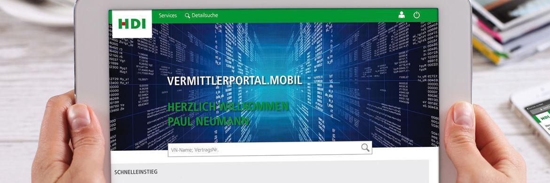 Das neue Angebot VermittlerPortal.mobil ist für Smartphones und Tablets optimiert.