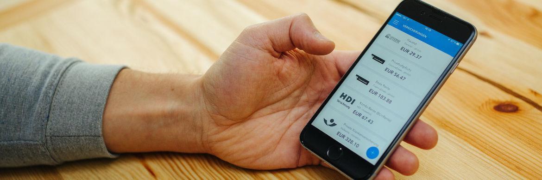 Die App des Insurtech-Anbieters Getsafe