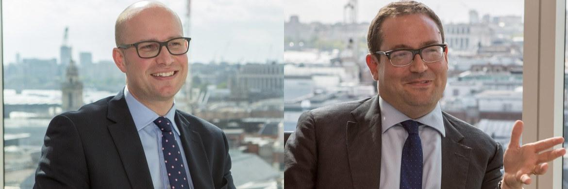 David Dudding und Mark Nichols (links), Co-Fondsmanager des Threadneedle European Select Fund