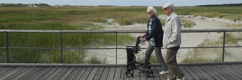 Rentner an der deutschen Nordseeküste
