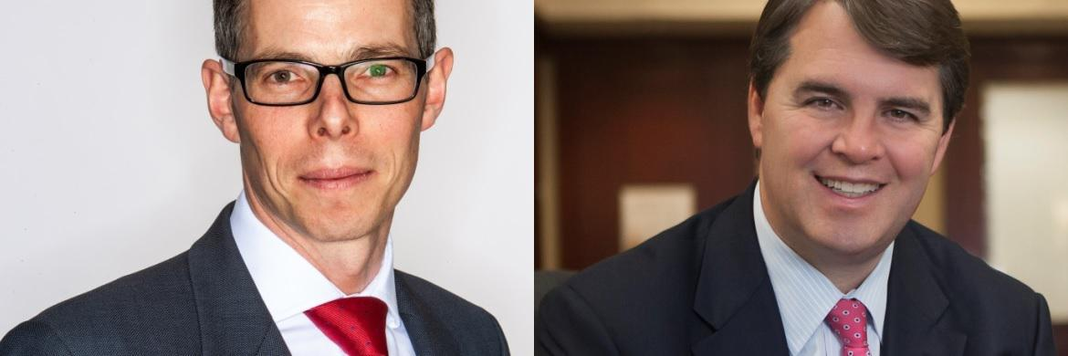 Peter Hensman (links), Global Strategist im Real Return Team bei Newton Investment Management, und John Bailer (rechts), Senior Portfolio Manager bei The Boston Company Asset Management, einer BNY Mellon Investment Boutique
