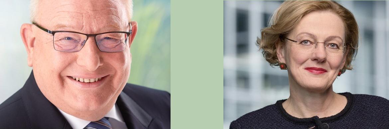 Ergo-Vorstand Christian Diedrich und seine Nachfolgerin Monika Sebold-Bender|© Ergo