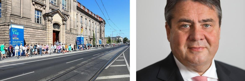 Das Gebäude des Bundesministeriums für Wirtschaft und Energie in Berlin; Wirtschaftsminister Sigmar Gabriel|© BMWi/Michael Reitz