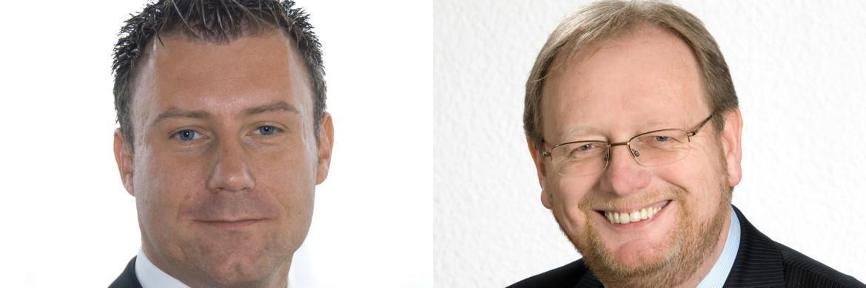 Unterschiedliche Jahresbilanz: Stefan Diehl von Frankfurt Trust und Starcapital-Manager Peter E. Huber (rechts)