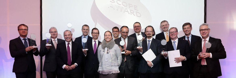 Die 12 Gewinner der Scope Awards 2017 wurden jetzt im Rahmen einer feierlichen Abendveranstaltung in der Frankfurter Villa Kennedy ausgezeichnet.