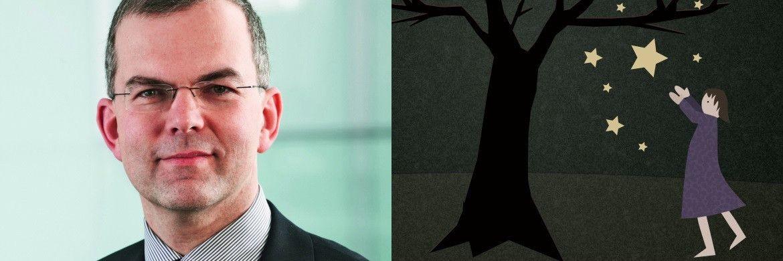 Hans-J&ouml;rg Naumer, Leiter Kapitalmarktanalyse von Allianz Global Investors. Rechts: Sterntaler&nbsp;|&nbsp;&copy; Renate Kalloch/<a href='http://www.pixelio.de/' target='_blank'>pixelio.de</a>