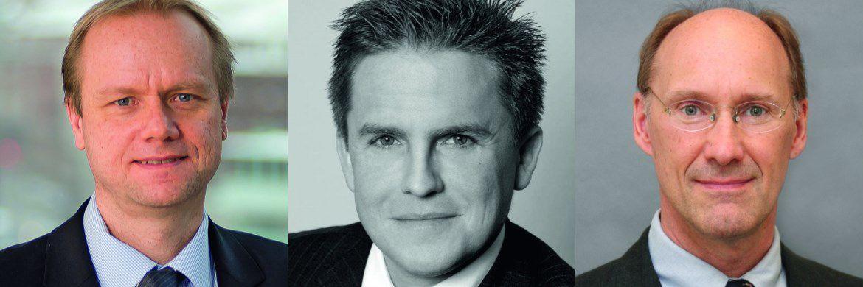 Nordea-Manager Asbjørn Trolle Hansen (links); Argentum-Manager Thorsten Mohr (mitte); und MFS-Manager Richard O. Hawkins