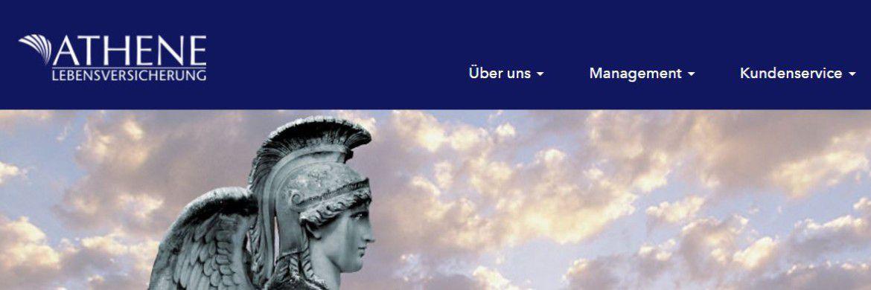 Screenshot der Homepage von Athene Lebensversicherung, ehemals Delta Lloyd Lebensversicherung: Der Versicherer aus Wiesbaden ist Zweitplatzierter im Profitabilitäts-Ranking