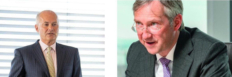 Kurt von Storch (li.) und Bert Flossbach, Chefs und Gründer der Vermögensverwaltung Flossbach von Storch|© Chr. Scholtysik und P. Hipp / Jürgen Bindrim
