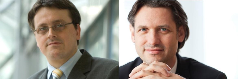 Tobias Basse (links), Analyst bei der Nord/LB, und Ron Große (rechts), Leiter der Beratungsspezialisten des Nord/LB Private Banking und Berater des Fondsmanagements