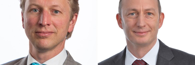 Pim van Vliet (links), Initiator und Portfoliomanager der Robeco Global Conservative Equity Fonds, und Daniel Wild (rechts), verantwortlich für Sustainability Investing Research & Development und Mitglied der Geschäftsleitung bei RobecoSAM