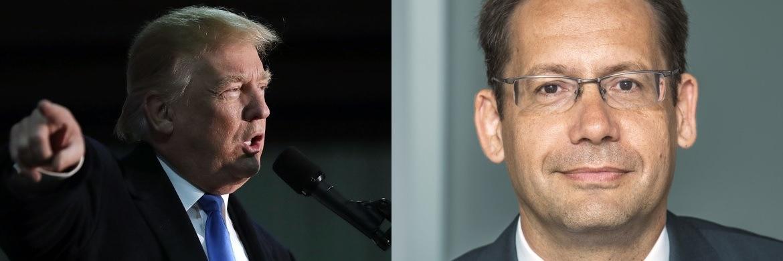 US-Präsident Donald Trump (links, Foto: Getty Images) und Elmar Peters. Peters leitet gemeinsam mit Bert Flossbach das Multi-Asset-Team bei Flossbach von Storch