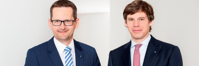 Jörg W. Stotz (links) und Marc Drießen (rechts), Geschäftsführung Hansainvest