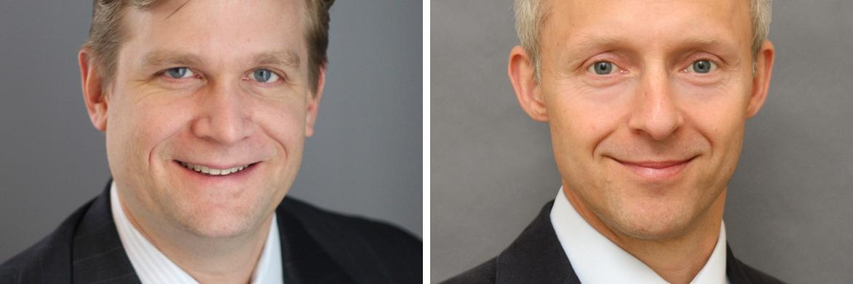 Anleihen-Experte David Cole (l.) und Barnaby Wiener managen gemeinsam den neuen MFS Meridian Funds – Prudent Capital Fund.
