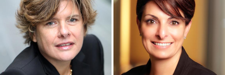 Isabelle Scemama (l.) und Heidi Ridley rücken ins Management Board von AXA Investment Managers auf