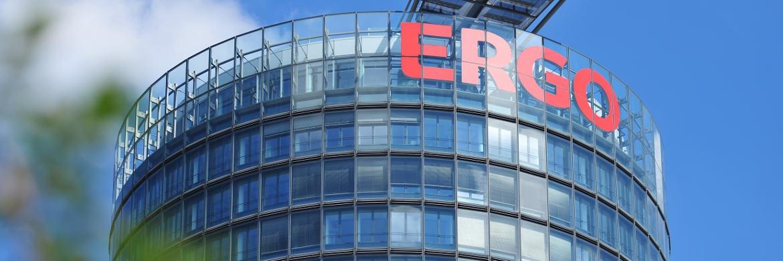 Ergo-Gebäude in Düsseldorf: Der Versicherer bietet einen der Top-5 BU-Tarife für Studierende an|© Ergo