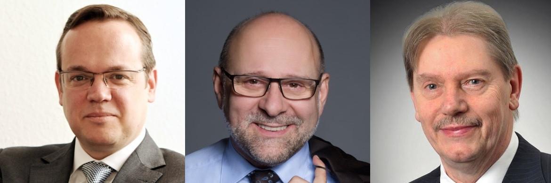 AfW-Vorstand Frank Rottenbacher (AfW) VSAV-Vorstand Ralf Werner Barth und IGVM-Vorstand Wilfried Simon (von li.)