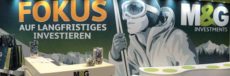 Messestand von M&G auf dem Fondskongress in Mannheim