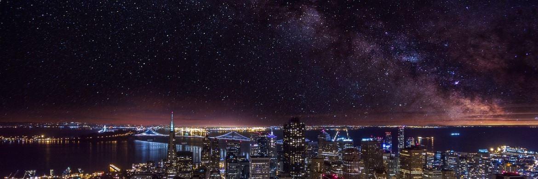 Sternenhimmel über San Francisco, USA|© Pixabay