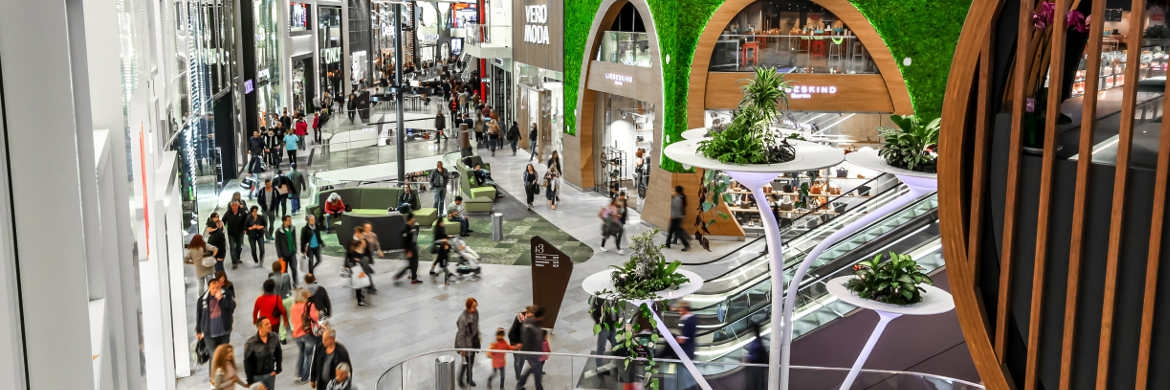 Shoppingcenter von UnibailRodamco in Mönchengladbach: Die Immobilienaktie ist im Portfolio des Global Income Fund | © Unibail-Rodamco Germany