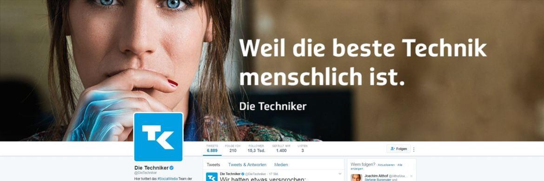Screenshot der TK-Twitter-Seite