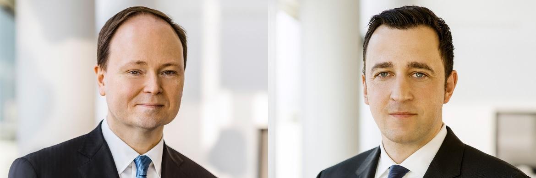 Waren bis Ende 2016 für die Deutsche Asset Management tätig: Marc-Alexander Knieß (l.) und Stefan Schauer