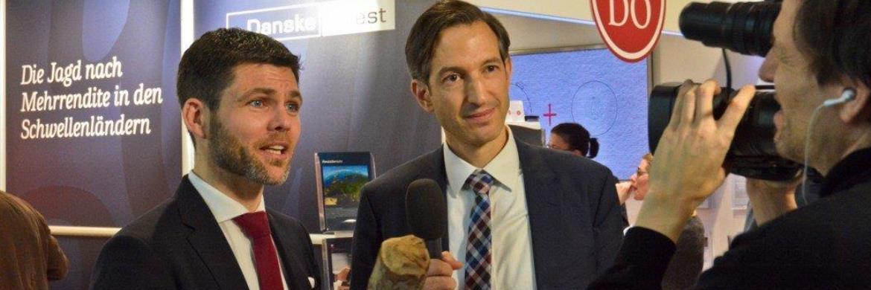Prof. Dr. Bernd Ankenbrand (links) und Marc Homsy (rechts), Head of Fund Distribution Germany bei Danske Invest, auf dem Fondskongress 2017