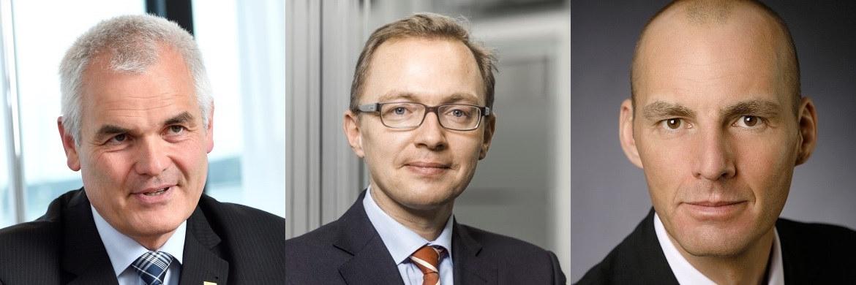 Christoph Schmallenbach, AachenMünchener, Patrick Dahmen, Axa, und Christian Schröder, Volkswohl Bund Versicherungen (v. li.)