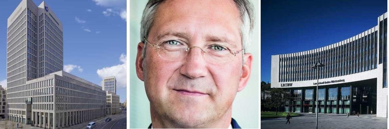 Hauptsitz der Union Investment in Frankfurt (li.) und der LBBW in Stuttgart (re.), Bert Flossbach, Chef und Mitgründer der Vermögensverwaltung Flossbach von Storch