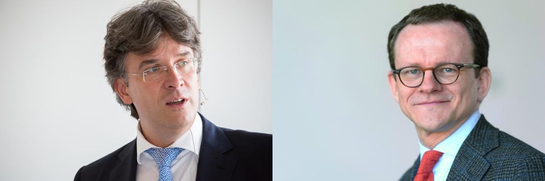 Shareholder-Value-Vorstand Frank Fischer (links) argumentiert gegen Georg Oehm, Berater des Mellinckrodt German Opportunities|© Christian Scholtysik / Patrick Hipp (l.); Wonge Bergmann