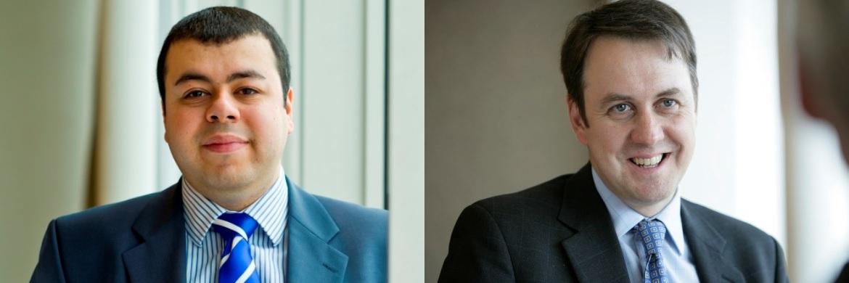 Europa-Ökonom Azad Zangana (l.) und Chefvolkswirt Keith Wade (r.) von Schroders