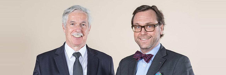 Initiatoren des Finanzplaner Forums Otto Lucius und Guido Küsters