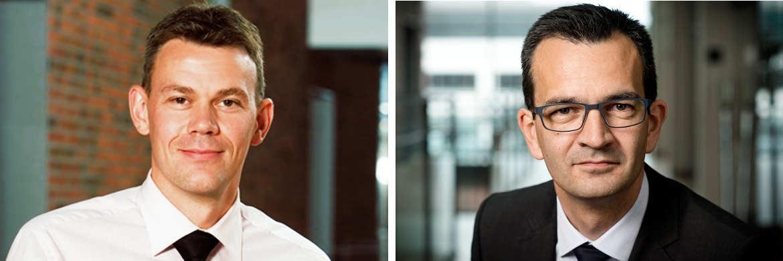 Flemming Larsen, Head of Clients und Leiter des dänischen und internationalen Kundengeschäfts von Jyske Capital, und Mikkel Røgild, Head of Investment Management bei Jyske Capital