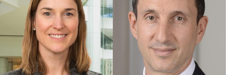 Christine Todd (l.), Präsidentin und Managing Director für US-Kommunalanleihen und Versicherungsstrategien bei Standish, und Matt Oomen (r.), Leiter internationaler Vertrieb bei BNY Mellon IM
